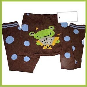 Polka Dot Frog Leggings / Tights NWT